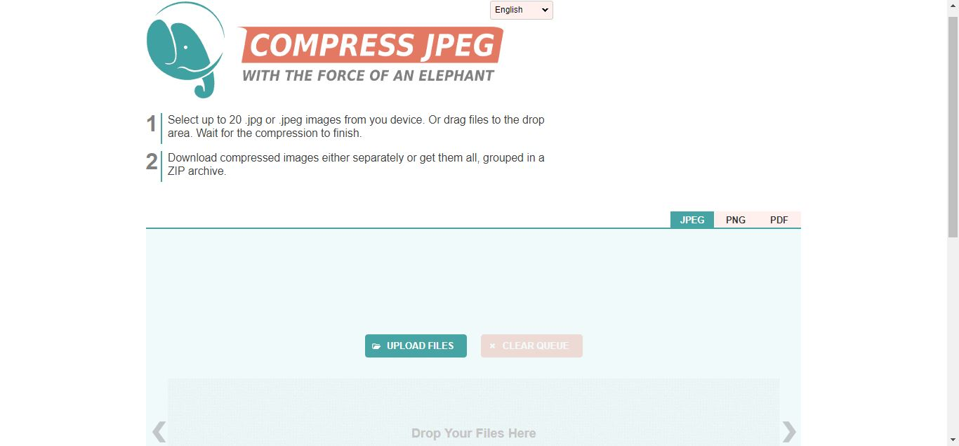 Compress jpeg